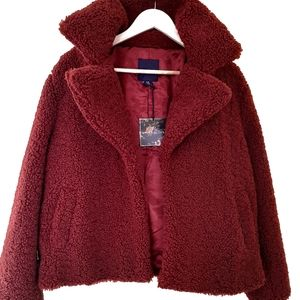 Amaryllis Brick red teddy jacket  2X